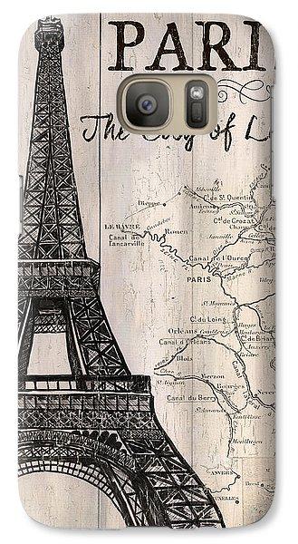 Vintage Travel Poster Paris Galaxy S7 Case by Debbie DeWitt