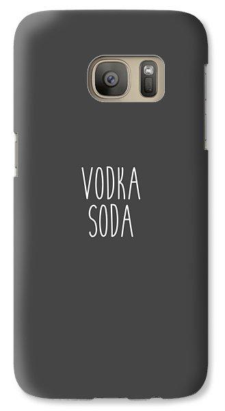 Vodka Soda Galaxy S7 Case by Cortney Herron