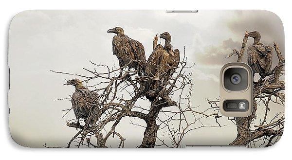 Vultures In A Dead Tree.  Galaxy S7 Case by Jane Rix