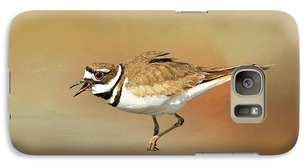 Wading Killdeer Galaxy Case by Donna Kennedy