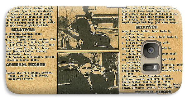 Wanted Poster - Bonnie And Clyde 1934 Galaxy Case by F B I