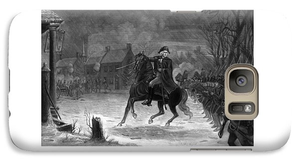 Washington At The Battle Of Trenton Galaxy Case by War Is Hell Store