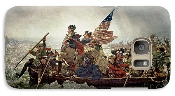 Washington Crossing The Delaware River Galaxy Case by Emanuel Gottlieb Leutze