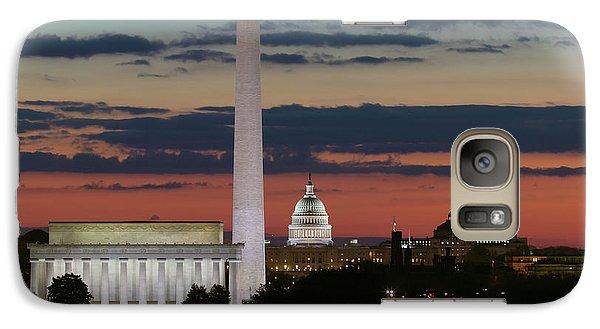 Washington Dc Landmarks At Sunrise I Galaxy Case by Clarence Holmes