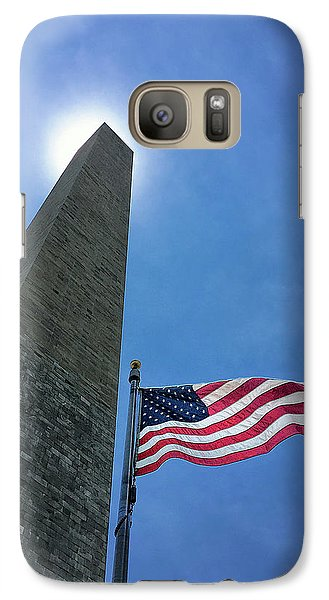 Washington Monument Galaxy S7 Case by Andrew Soundarajan