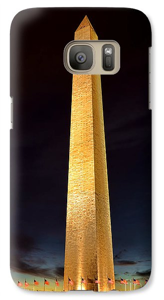 Washington Monument At Night  Galaxy Case by Olivier Le Queinec