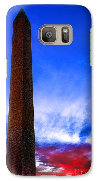 Washington Monument Glory Galaxy S7 Case by Olivier Le Queinec