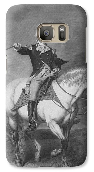 Washington Receiving A Salute At Trenton Galaxy S7 Case by War Is Hell Store