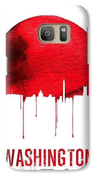 Washington Skyline Red Galaxy Case by Naxart Studio