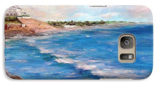Watch Hill Beach Galaxy Case by Anne Barberi