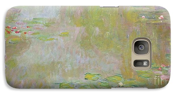 Waterlilies At Giverny Galaxy Case by Claude Monet