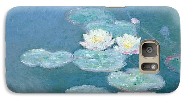 Waterlilies Evening Galaxy Case by Claude Monet