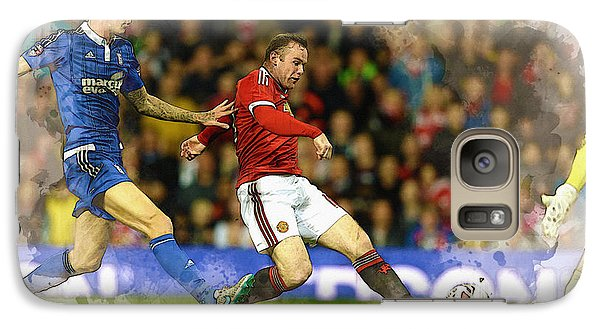 Wayne Rooney Of Manchester United Scores Galaxy S7 Case by Don Kuing