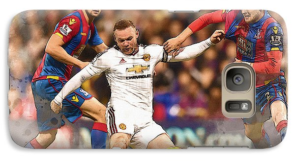 Wayne Rooney Shoots At Goal Galaxy S7 Case by Don Kuing