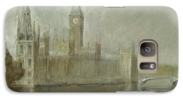 Westminster Palace And Big Ben London Galaxy S7 Case by Juan Bosco