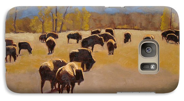Where The Buffalo Roam Galaxy Case by Tate Hamilton