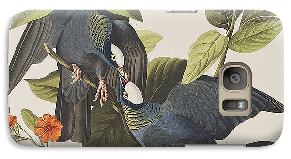 White Crowned Pigeon Galaxy Case by John James Audubon
