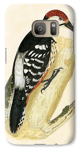 White Rumped Woodpecker Galaxy S7 Case by English School