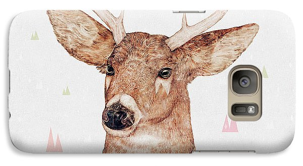 White Tailed Deer Square Galaxy S7 Case by Animal Crew