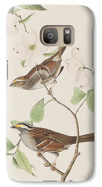 White Throated Sparrow Galaxy S7 Case by John James Audubon