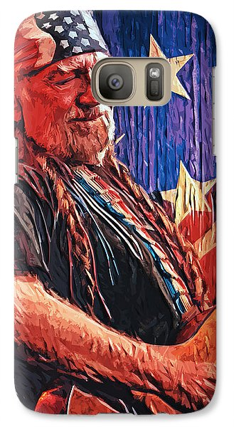 Willie Nelson Galaxy Case by Taylan Apukovska