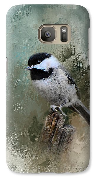 Winter Chickadee Galaxy Case by Jai Johnson