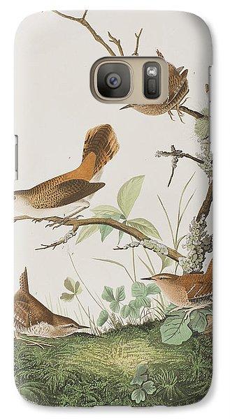 Winter Wren Or Rock Wren Galaxy S7 Case by John James Audubon
