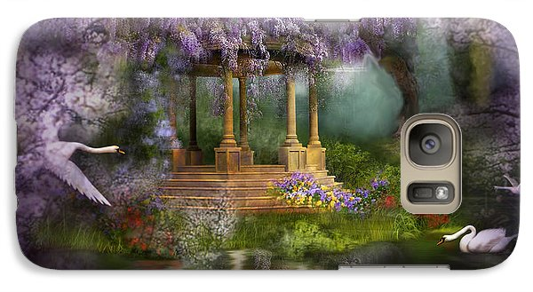 Wisteria Lake Galaxy Case by Carol Cavalaris