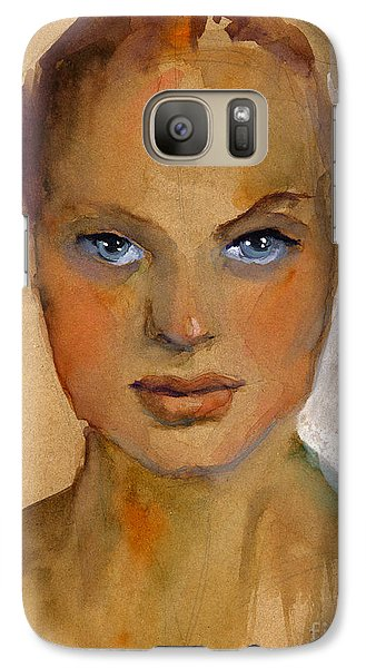 Woman Portrait Sketch Galaxy S7 Case by Svetlana Novikova