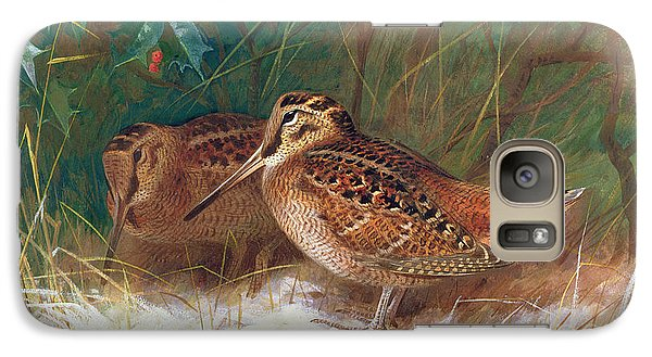Woodcock In The Undergrowth Galaxy S7 Case by Archibald Thorburn