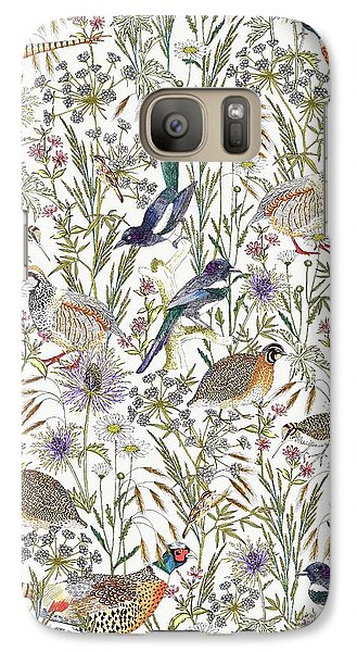 Woodland Edge Birds Galaxy S7 Case by Jacqueline Colley
