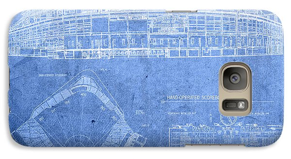 Wrigley Field Chicago Illinois Baseball Stadium Blueprints Galaxy S7 Case by Design Turnpike