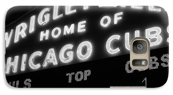 Wrigley Field Sign Black And White Picture Galaxy S7 Case by Paul Velgos