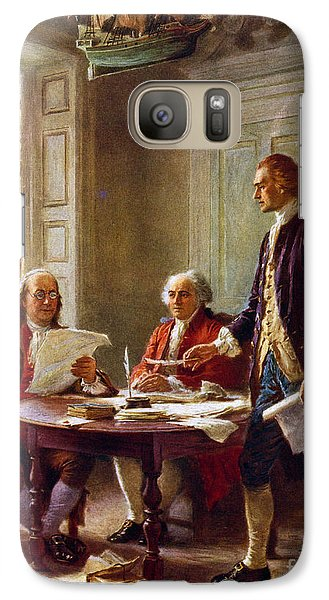Writing The Declaration Of Independence, 1776, Galaxy S7 Case by Leon Gerome Ferris