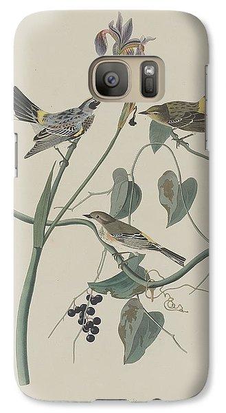 Yellow-crown Warbler Galaxy S7 Case by John James Audubon