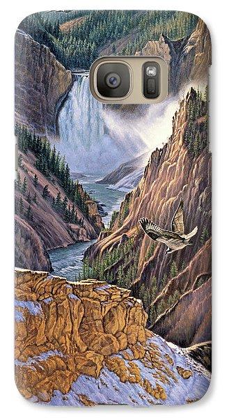 Yellowstone Canyon-osprey Galaxy Case by Paul Krapf