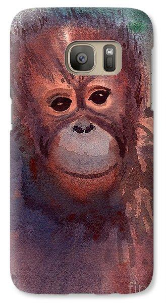 Young Orangutan Galaxy Case by Donald Maier