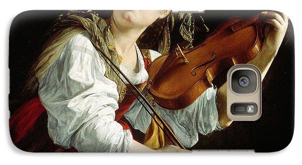 Young Woman With A Violin Galaxy Case by Orazio Gentileschi