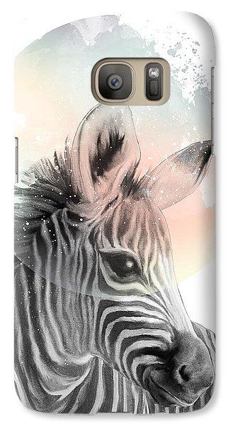 Zebra // Dreaming Galaxy Case by Amy Hamilton