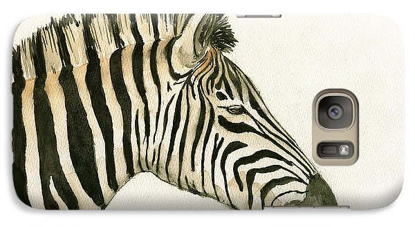 Zebra Head Study Painting Galaxy Case by Juan  Bosco