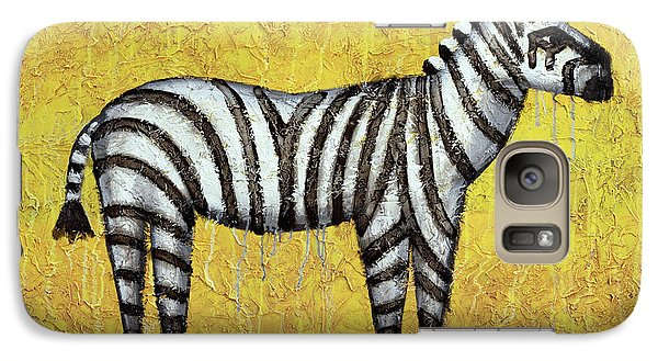 Zebra Galaxy Case by Kelly Jade King