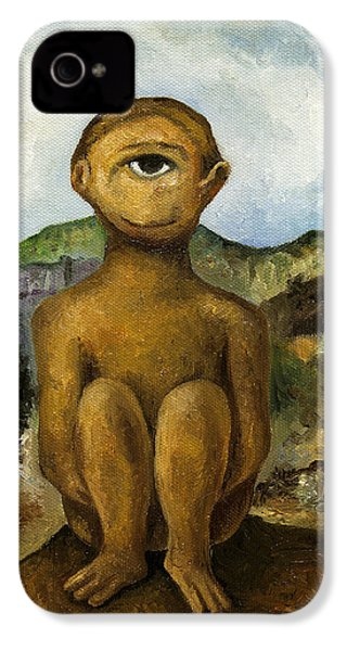 Cyclops IPhone 4 / 4s Case by Leah Saulnier The Painting Maniac