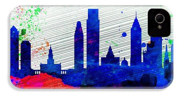 Philadelphia City Skyline IPhone 4 / 4s Case by Naxart Studio