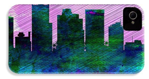 Phoenix City Skyline IPhone 4 / 4s Case by Naxart Studio