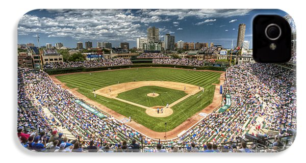 0234 Wrigley Field IPhone 4 / 4s Case by Steve Sturgill