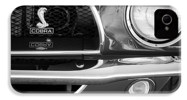 1968 Ford Mustang Fastback 427 Ci Cobra Grille Emblem IPhone 4 / 4s Case by Jill Reger