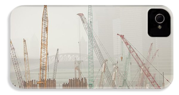 A Construction Site In Hong Kong IPhone 4 / 4s Case by Ashley Cooper