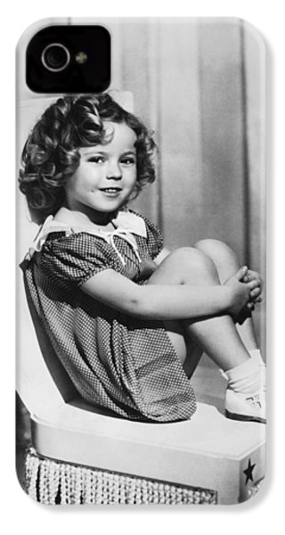 Actress Shirley Temple IPhone 4 / 4s Case by Underwood Archives