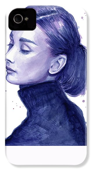 Audrey Hepburn Portrait IPhone 4 / 4s Case by Olga Shvartsur