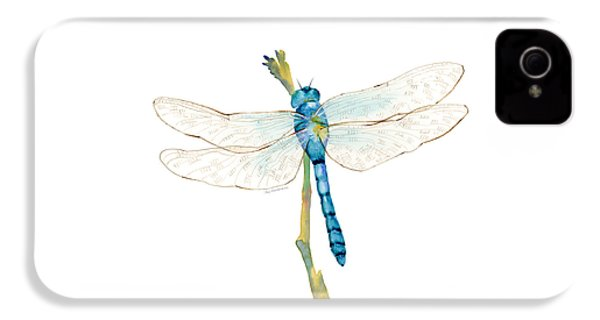 Blue Dragonfly IPhone 4 / 4s Case by Amy Kirkpatrick